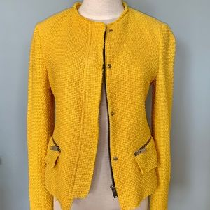 Zara Woman's Tweed Frayed Blazer